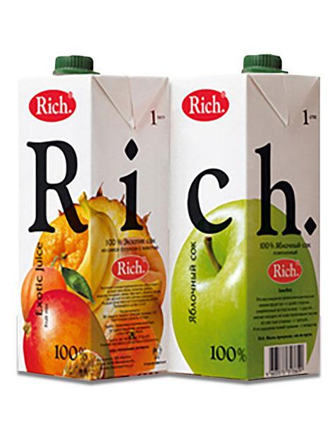 Сок Rich 1л - 0